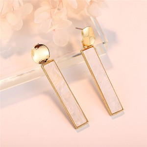Rhinestone Elegant Bar Earrings Pair