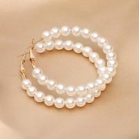 Pearl Decorative Party Wear Spherical Earrings Pair