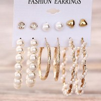 Pearl Women Fashion Formal Earrings Pair Set