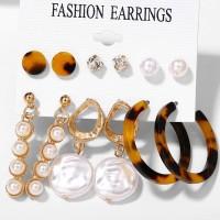 Ear Jewellery Elegant Six Pairs Ear Tops Set