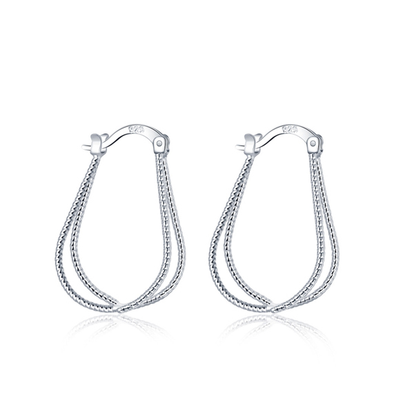 Stylish Lady Pendant Earrings Silver Coated 2017