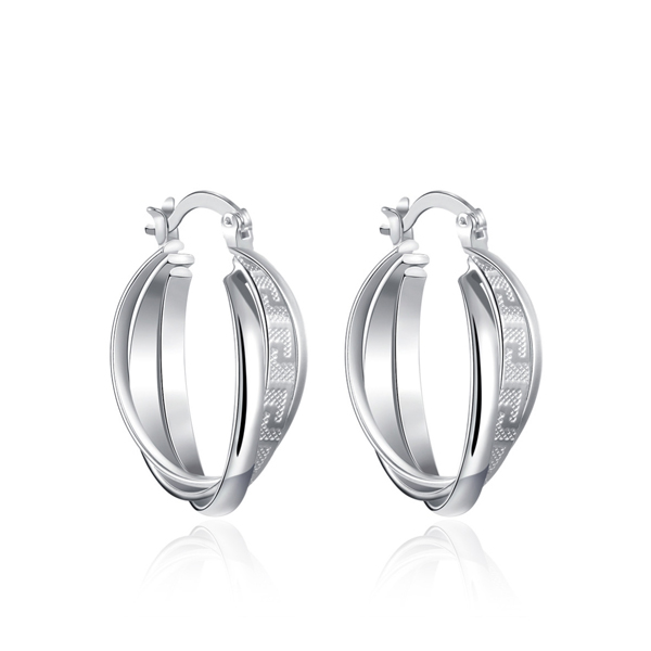 New Famous Classic Earrings For Women Silver Coated