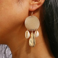 Sea Shell Earrings Gold-plated Metal Shell Earrings