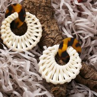 Braided Spiral Casual Wear Vintage Ear Tops - White