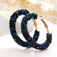 Crystal Decorative Party Wear Earrings - Blue