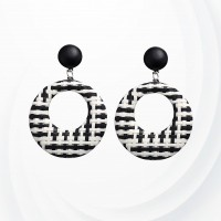 Thread Art Casual Button Tops - Black And White