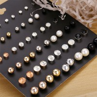 Multi Color Thirty Pairs Casual Style Ear Tops Set