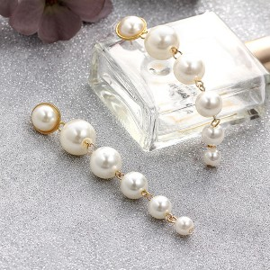 Hanging Pearls Long Earrings Pair