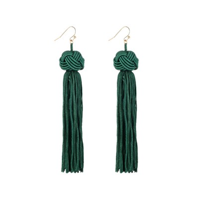 Attractive Green Party Style Tassel Tops