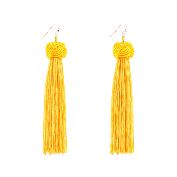 Attractive Yellow Party Style Tassel Tops
