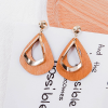 Modern Dual Contrast Tassel Earrings Set - Orange