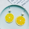 Lemon Hanging Creative Party Earrings