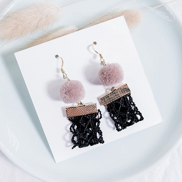Spherical Tassel Party Wear Designers Earrings