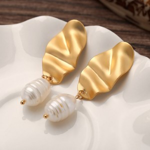 Gold Plated Boho Charming Ear Tops Pair