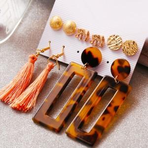 Bloom Different Shape Tassel Ear Jewellery Sets