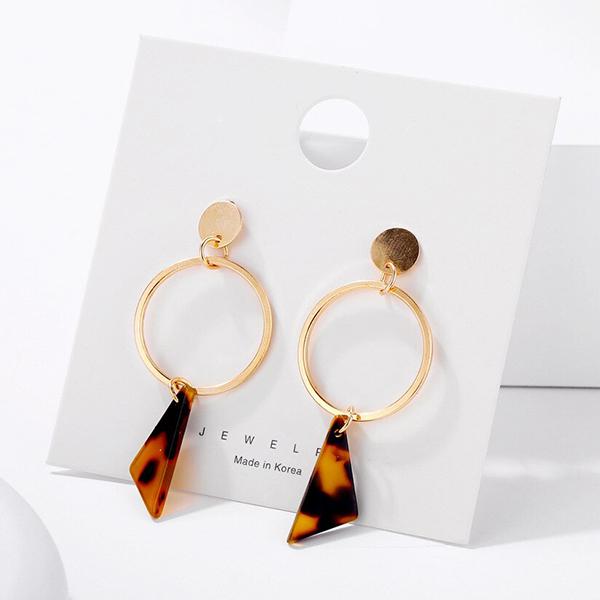Rings Pendant Gold Plated Earrings