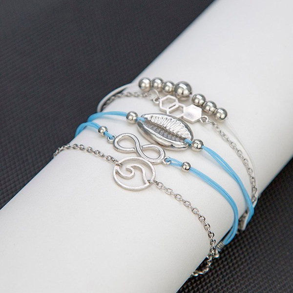 Bohemian Fashion Five Layered Bracelets Set