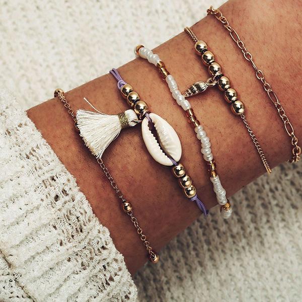 Bohemian Tassel Casual Wear Elegant Bracelets