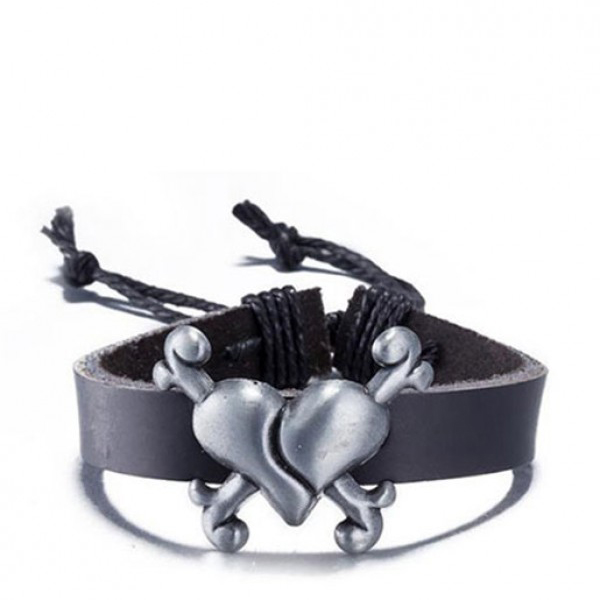 Herat Rope Chain Leather Black Bracelet For Girls and Boys