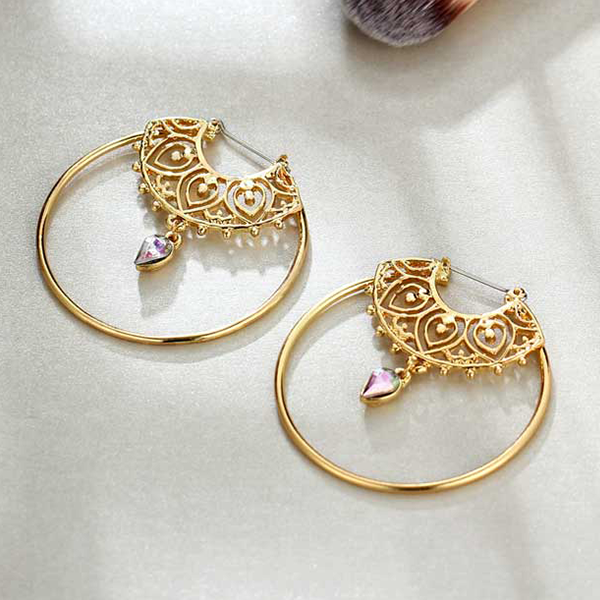Spherical Engraved Party Wear Earrings Set