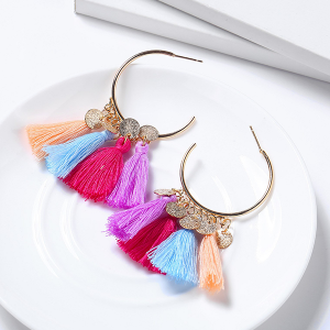 Bohemian Tassel Casual Wear Earrings Set - Multicolor