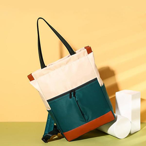 Canvas Zipper Vintage Patched Colorful Shoulder Bags