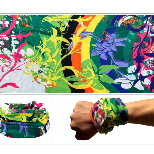 Multifunction Stretchable Head And Hand Bands - Multicolor