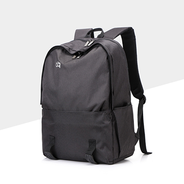 Zipper Traveller Students Smart Backpacks - Black