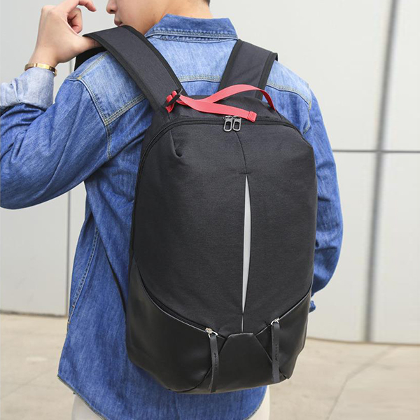 Multi Zipper Canvas Smart Traveller Backpacks - Black