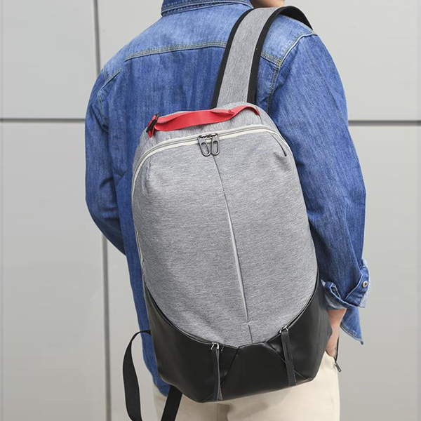 Multi Zipper Canvas Smart Traveller Backpacks - Grey