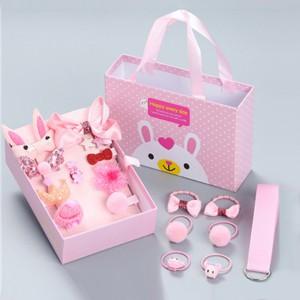 Beautiful Design Fifteen Piece Hair Clips - Pink