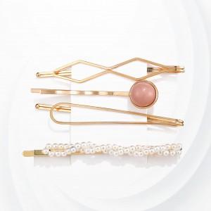 Crystal Decorative Four Pieces Hair Clips Set