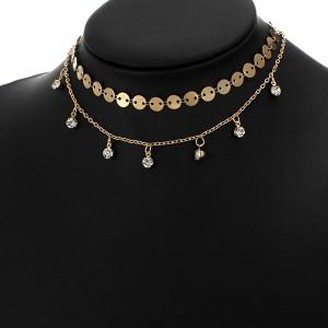 Choker Boho Multilayer Necklace Golden