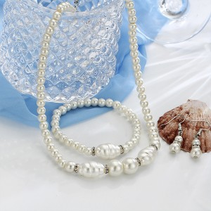 Beads Decoratives With Pearl Jewellery Set
