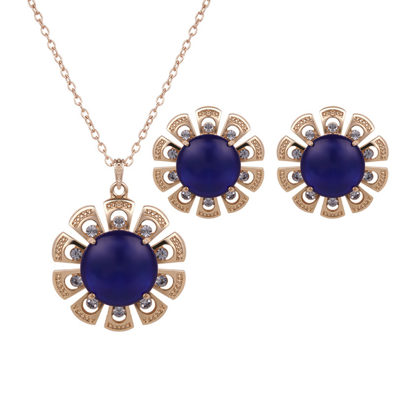 Blue Flower Pendant With Cute Tops