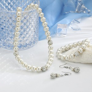 Shiny Pearl Decorative Jewellery Set