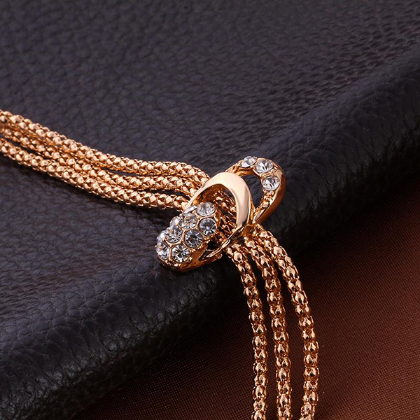 Multilayer Gold Plated Chain Complete Jewellery Set