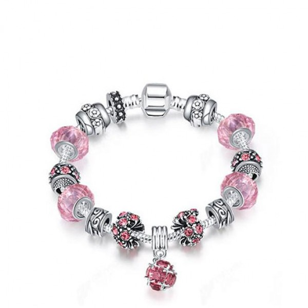 European And American Popular Elegant Bright Bracelet Pink