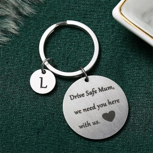Gifts For Mothers Alphabetic Name Keychain - L