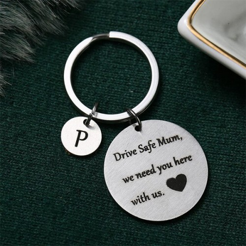 Gifts For Mothers Alphabetic Name Keychain - P