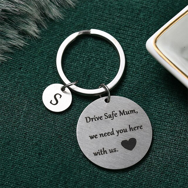 Gifts For Mothers Alphabetic Name Keychain - S