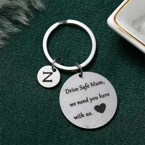 Gifts For Mothers Alphabetic Name Keychain - Z