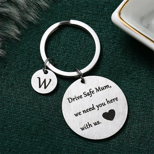 Gifts For Mothers Alphabetic Name Keychain - W