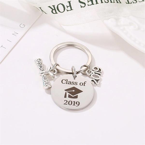 Graduate Gifts Silver Fancy Organizer Keychain