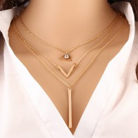 Stylish Bar Pendant With Crystal Decoration For Women