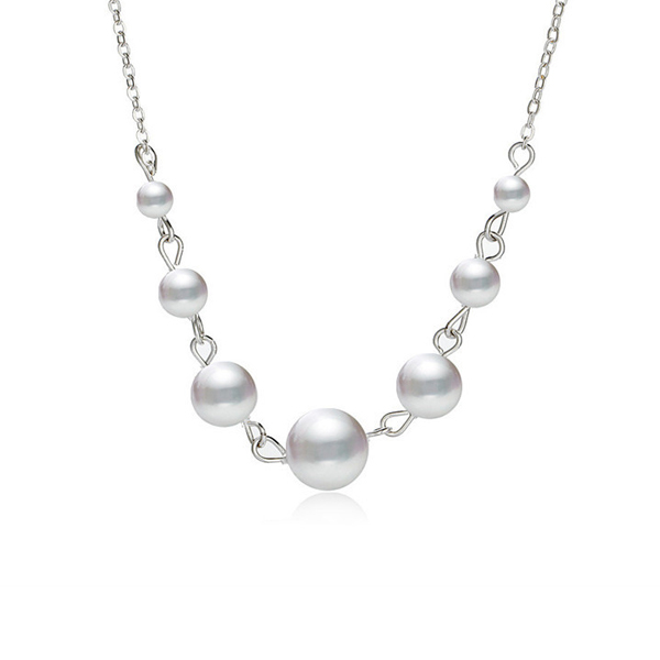 Pearl Hanging Silver Plated Wedding Pendant
