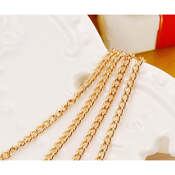 Cute Pearls Layered Gold Plated Chain Pendant For Women