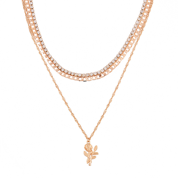 Crystal Wedding Special Gold Plated Necklace