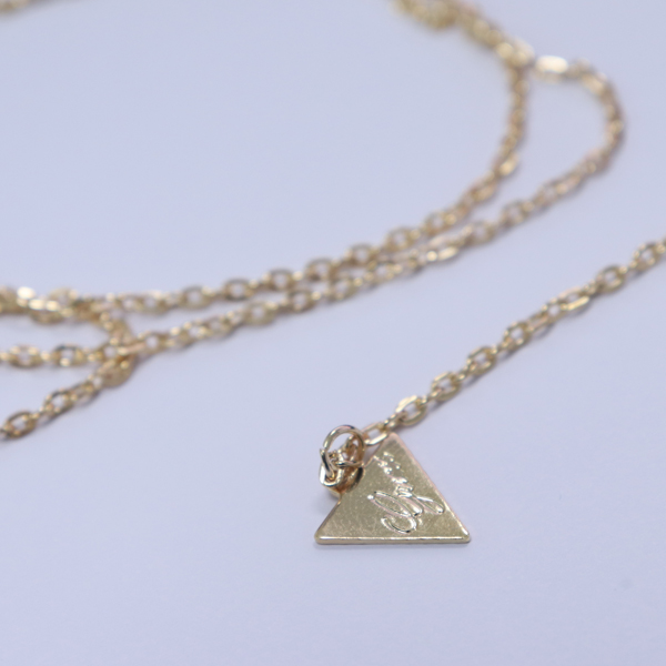 Triangle Hanging Gold Plated Chain Necklace