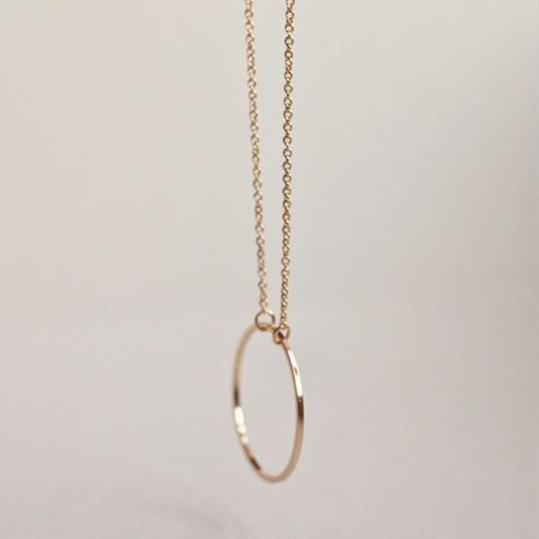Attractive Ring Pendant Gold Plated Chain For Women